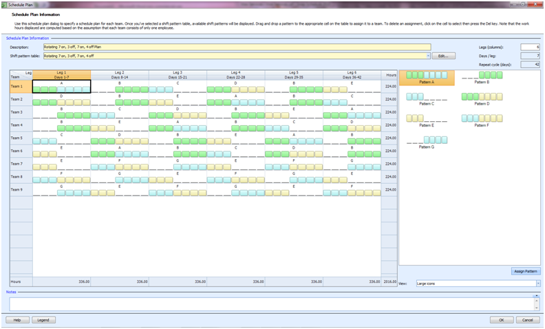 Employee scheduling example 247 8 hr rotating shifts employees 6 to generate employee work schedules shift assignments from this plan click on the generate schedule button and follow the on screen instructions pronofoot35fo Gallery