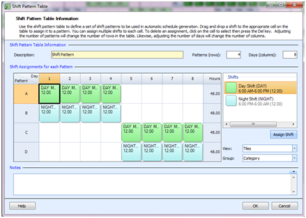 Employee Scheduling Example: 24/7, 12 hr shifts, 4 on – 4 off ...
