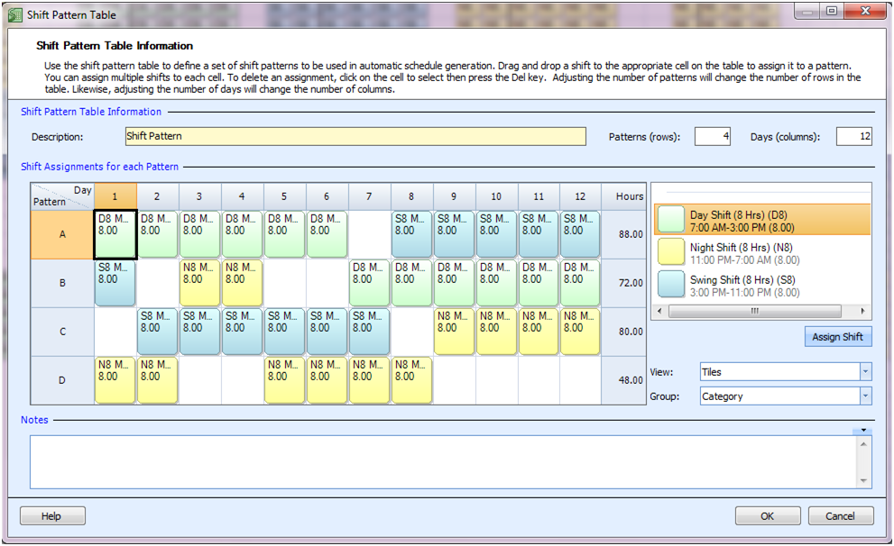 Employee scheduling example 24 7 8 hr shifts at least 4 for 3 on 3 off shift pattern template